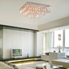 Flush Mount Lamp Living Room Bedroom Crystal Chandelier Modern Ceiling Light
