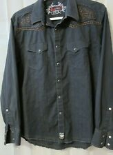Vintage Rock 47 Western Embroidered Long Sleeve Button Front Xl