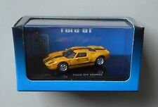 YELLOW w BLACK STRIPES 2005 FORD GT RICKO 1:87 MINIATURE Car HO Scale