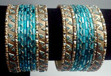 2.8 Indian Pakistani Bridal women Saree Jewelry Dance Bracelet Bangles 24pc #378