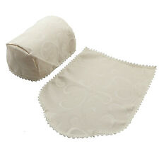 6 CHAIR ARM COVERS AND 5 CHAIR BACKS  LIGHT CREAM QUALITY UK MADE (54240/1)