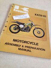 Kawasaki KX250 A3 KX 250 250KX manuel assemblage assembly preparation éd. 75