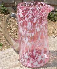 -Glass Pitcher Carafe en verre soufflé moucheté