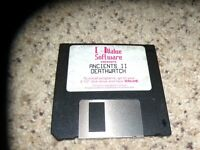 "Ancients II Deathwatch IBM PC Game 3.5"" disk"