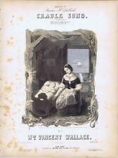 Cradle Song, Wm. Vincent Wallace, 1851, antique sheet music for Contralto