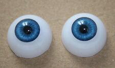 22 mm Reborn Baby dolls eyes Blue Half Round Acrylic Eyes for newborn Babies kit