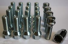 M14 x 1,5 CÓNICO 50mm aleación set tornillos antirrobo de ruedas PARA