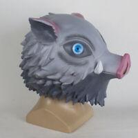 Mascara Inosuke Cabeza de jabalí Demon Slayer Kimetsu no Yaiba disfraz cosplay