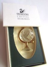 Belle mappemonde plaqué or en cristal swarovski bibelot collection dans boite P