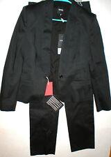 New NWT Womens 10 Designer CNC Costume National Black Suit 46 Italy Lapel Pants