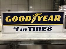 GOODYEAR TIRE SIGN VITANGE  LIGHTED BOTH SIDES GREAT CONDITION
