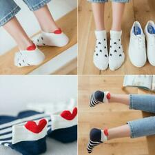 5X Frauen Männer Socken Arbeit Herzförmigen Baumwolle Socke lässig Sneaker F7J2