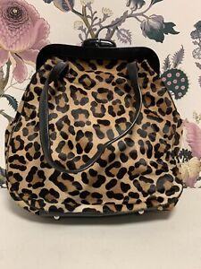 Lulu Guinness Med Pollyanna Bag Fake Leopard Fur Bag (L-4)