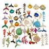 Enamel Alloy Mixed Random Sea Shell Mermaid Pendant Charms DIY Accessories 10pcs
