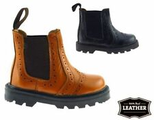 Leather Upper Boots Slip-on Narrow Shoes for Boys