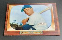1955 Bowman # 65 Don Zimmer Rookie Baseball Card RC Brooklyn Dodgers