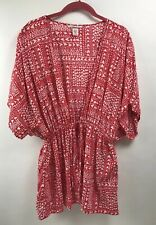 Victoria's Secret Swimsuit Cover Up Robe Red Pink Hearts OS One Size $48