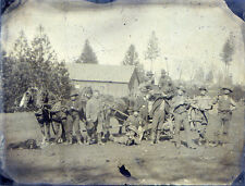 Extremely Rare Christmas Wild West Cowboys With Guns Tintype Northern California