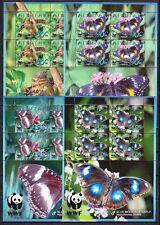 Aitutaki 2008 Mi.Nr. 778-81 Kleinbogen WWF ** Schmetterlinge Butterfly 38,-- EUR