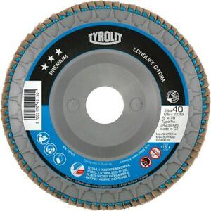 "Tyrolit 3* CTRIM Flap Disc PREMIUM 4 1/2"" (115MM) PACK OF 10 - KING OF FLAP DISC"