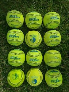 "11"" fast pitch used softballs USSSA stamped (12 balls)"