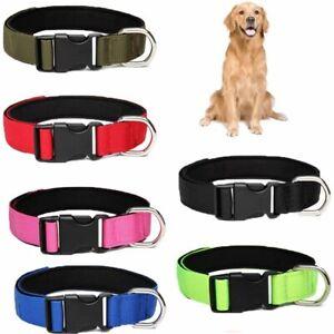 Nylon Webbing Dog Collar,Heavy Duty Clip Buckle Pet Collar for Small Medium Dogs