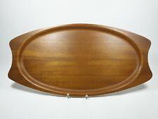 silva teak tablett wood tray mid century design schweden sweden 56 cm