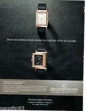 PUBLICITE ADVERTISING  116  2013  montre reverso ultra thin duoface Jaeger-Lecou