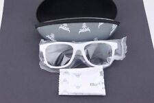 CHICAGO BULLS BLUE CROSS BLUE SHIELD WHITE SUNGLASSES WITH CASE - NEW