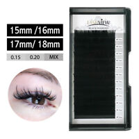 Lashview .15 .20 Individual Eyelash Extensions 15/16/17/18mm Mink Eye Lashes C D