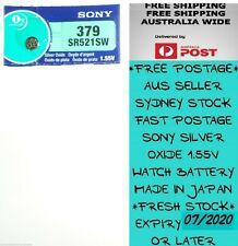 1 PCS SONY SR521SW 379 1.55V Silver Oxide Battery for Watch Made in Japan