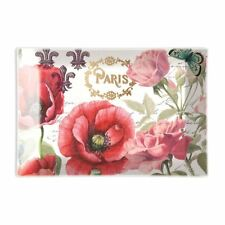 Michel Design Works Glass Trinket / Soap Dish Toujours Paris Poppies - NEW