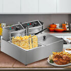 5000W Electric Deep Fryer Stainless Steel Dual Tank Restaurant Home 12L/12.9QT photo