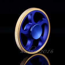3D Gold Circle Round Fidget Hand Spinner Brass Finger Toy EDC Focus Gyro ADHD