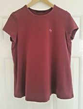 Maternity Burgundy Embroidered  Stork Top T-Shirt, Size M, Summer