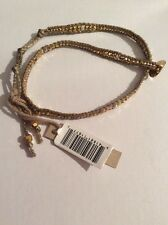 $155 Chan Luu GOLD MIX DOUBLE WRAP BRACELET ON MOKUBA CORD