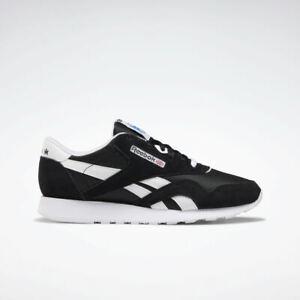 Reebok CL Nylon FV1592 BLACK/White Casual Walking Comfort Sneakers for MEN