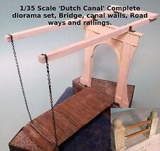 """1/35 scale """"canaux néerlandais"""" ensemble complet diorama, pont, Canal des murs, des chaussées +"""