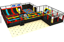 4,500 sqft Commercial Trampoline Park Dodgeball Climb Gym Inflatable We Finance