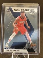 Zion Williamson PANINI MOSAIC NBA DEBUT  ROOKIE CARD 2019-20 RC #269 Pelicans 🔥
