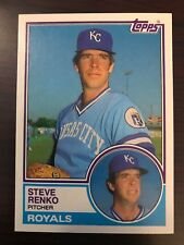 1983 Topps Traded Steve Renko Kansas City Royals 95T