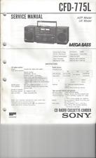 Sony Original Service Manual für CFD 775 L  englisch