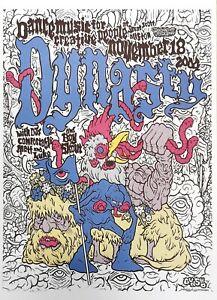 "Dynasty, Boston 2004 paper art poster reprint 10"" x 14"" gig show concert"