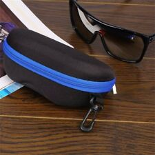 Portable Zipper Eye Glasses Sunglasses Clam Shell Hard Case Protective Box 5N