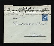 Germany 1922 Dortmund National Emil Friedrich 6p Posthorn Cover 1y