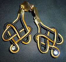 ORECCHINI-EARRINGS-OHRRINGE Capim Dourado due colori con swarosky  B16