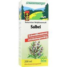 SALBEI SAFT Schoenenberger Heilpflanzensäfte 200ml PZN 700105