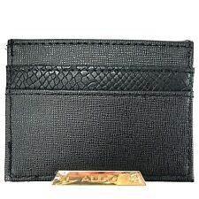 ALDO Womens Black Credit Card Holder Gold Nameplate Wallet Multi Pocket 4x3