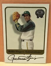 Rollie Fingers Auto 2001 Fleer Greats Of The Game Autograph A's HOF