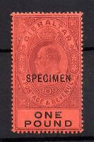 Gibraltar 1903 £1 dull purple & black Specimen mint MH SG55s WS20929